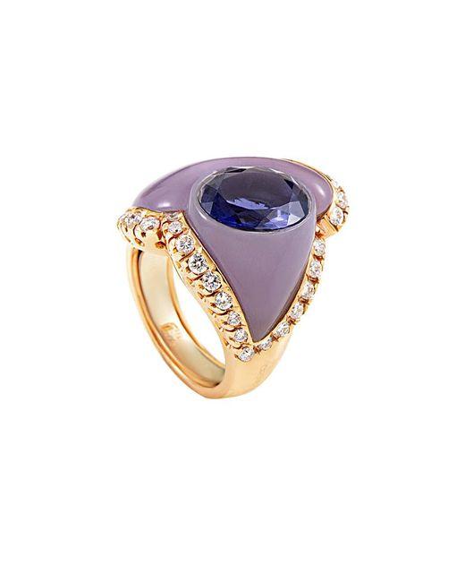 Heritage - Multicolor Oro Trend 18k Rose Gold 5.68 Ct. Tw. Diamond & Gemstone Ring - Lyst