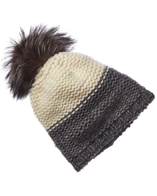 Portolano Multicolor Cashmere Contrast Wool-blend Hat