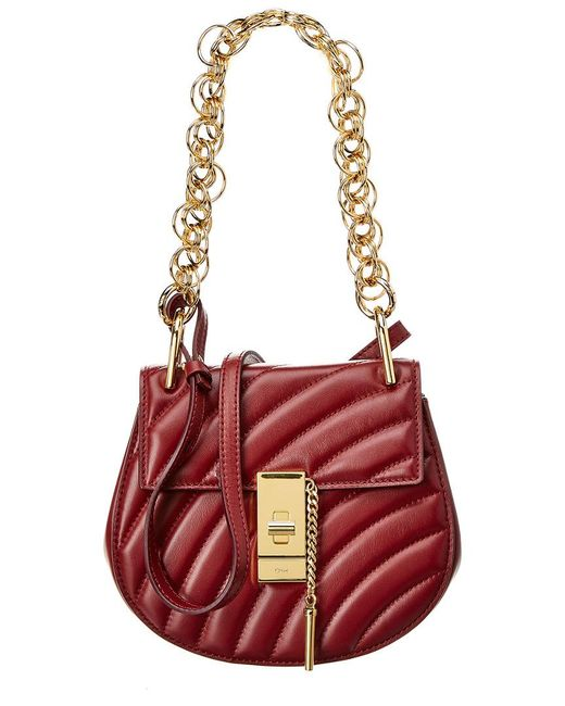 Chloé Multicolor Drew Bijou Mini Quilted Leather Crossbody
