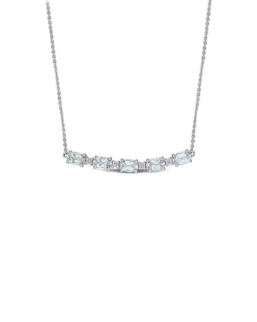 Rina Limor Metallic 14k 2.14 Ct. Tw. Diamond & Aquamarine Necklace