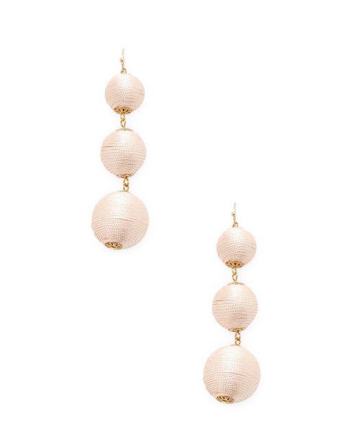 Kenneth Jay Lane - Pink Thread Wrapped Ball Drop Earrings - Lyst