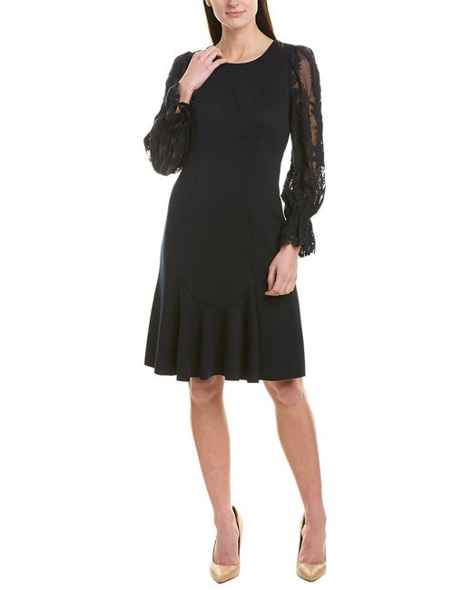 Elie Tahari Blue A-line Dress