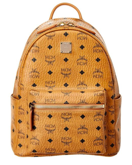 MCM - Brown Dual Stark Small Visetos Faux-Leather Backpack  - Lyst
