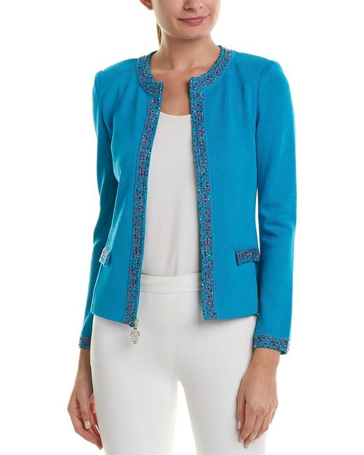 St. John Blue Wool-blend Jacket