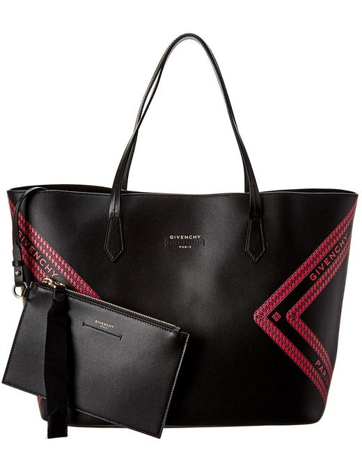Givenchy Black Wing Leather Shopping Tote