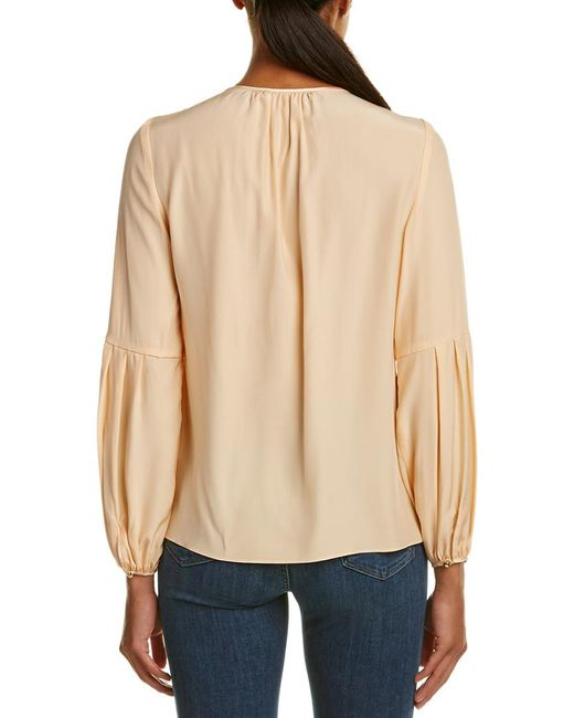 Alice & Trixie Pink Silk Top