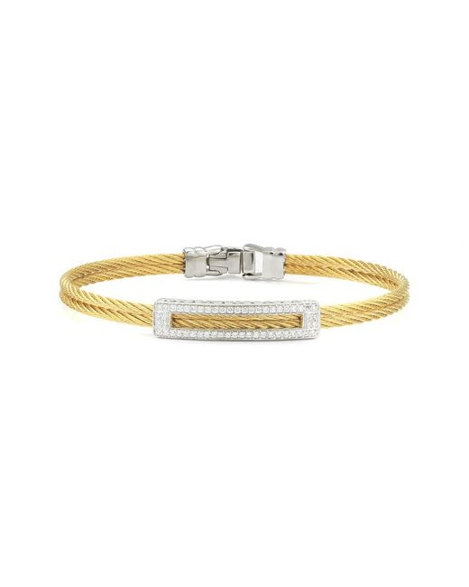 Alor Metallic Classique 18k 0.28 Ct. Tw. Diamond Bracelet