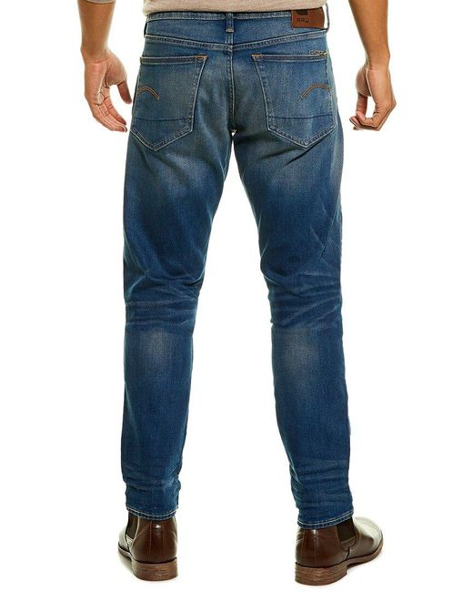 G-Star RAW Blue Raw 3301 Medium Aged Slim Leg Jean for men