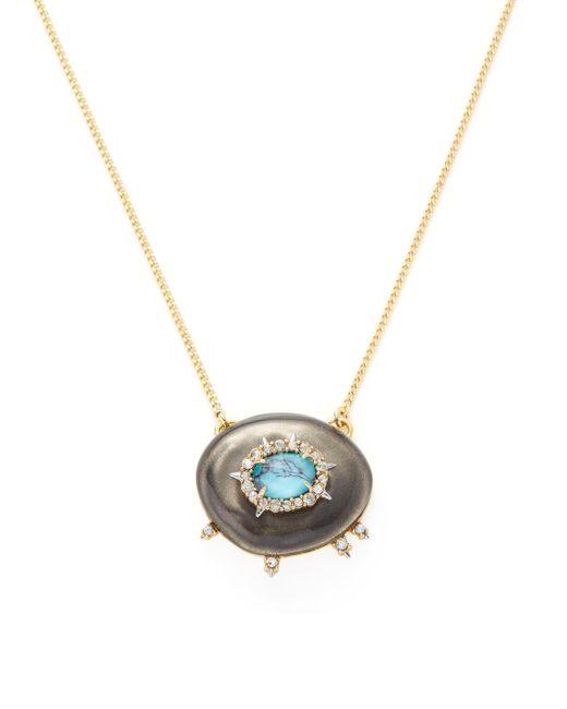 Alexis Bittar | Metallic Lucite Crystal Stone Liquid Silk Pendant Necklace | Lyst