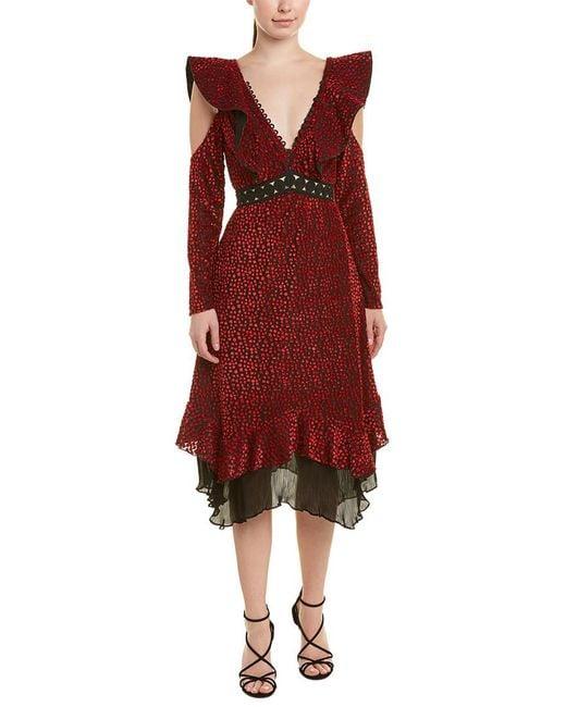 Self-Portrait Red A-line Dress