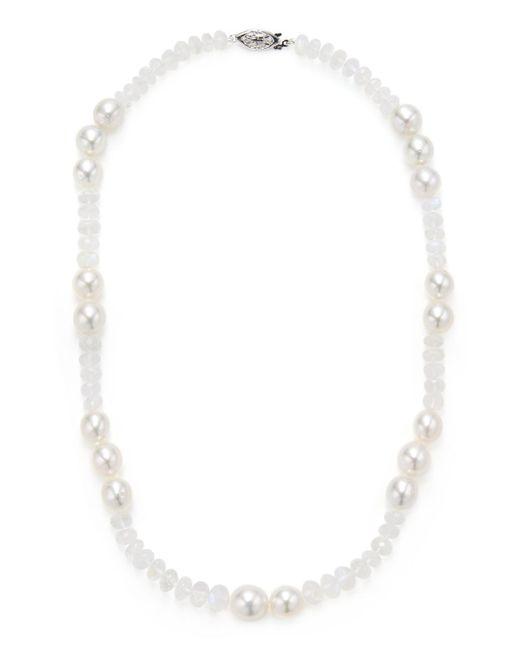 Belpearl - Multicolor South Sea Pearl & Moonstone Necklace - Lyst