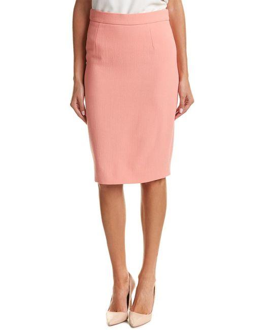 ESCADA Pink Wool Pencil Skirt