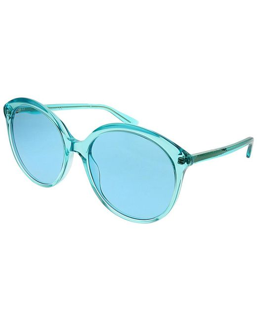 e4f00852bb Gucci - Blue Women s Round 59mm Sunglasses - Lyst ...