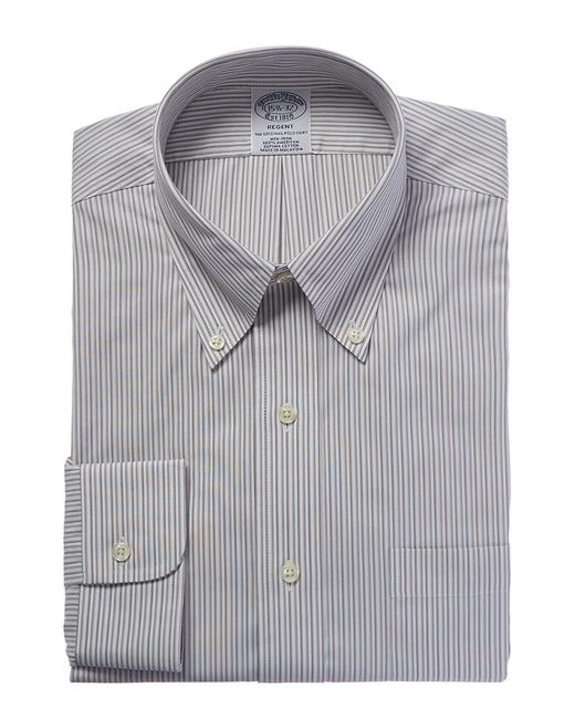 Brooks Brothers - Gray Regent Fit Dress Shirt for Men - Lyst