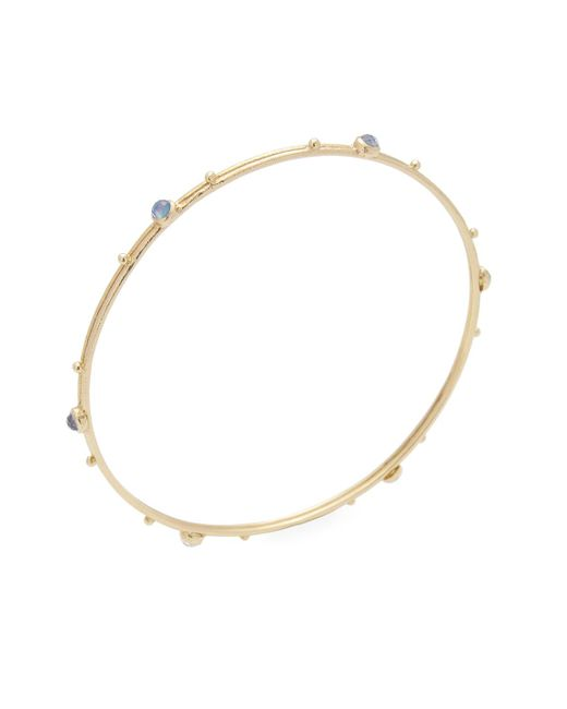 Armenta - Metallic 18k Yellow Gold Sueno Sapphire, Mother Of Pearl & Quartz Bangle - Lyst