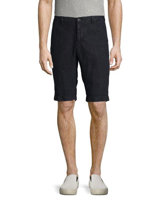 Etro | Blue Solid Cotton Shorts for Men | Lyst