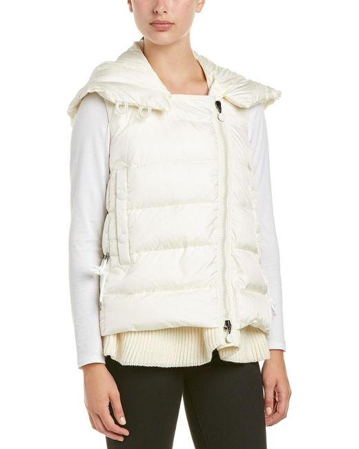 Moncler White Laurie Down Vest