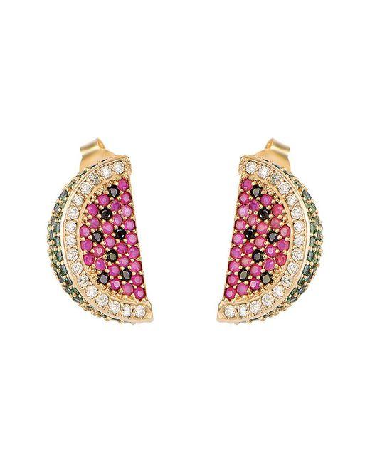 Gabi Rielle Metallic Gold Over Silver Cz Earrings