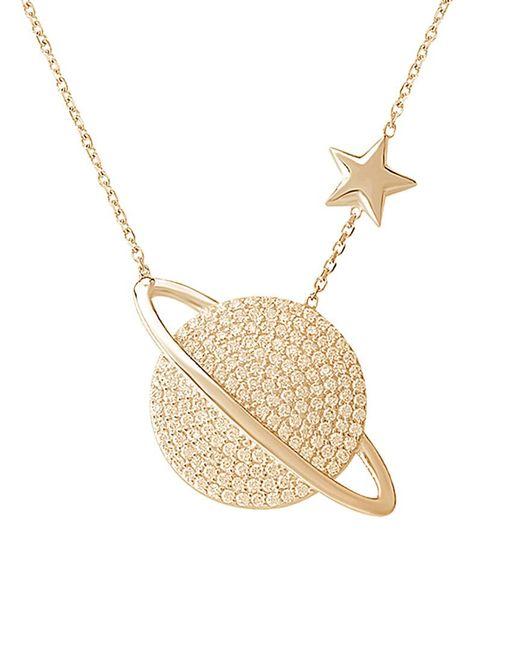 Gabi Rielle Metallic 22k Over Silver Cz Necklace