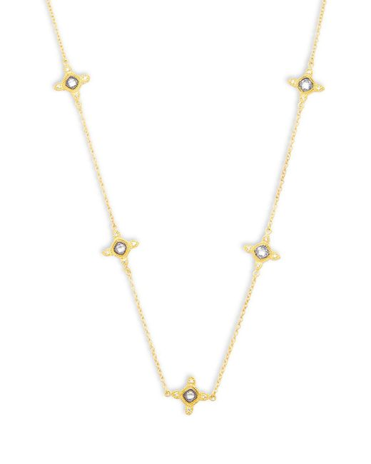Freida Rothman - Metallic Classic Cz & 14k Gold-plated Sterling Silver Station Necklace - Lyst