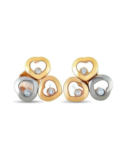 Chopard Metallic 18k Two-tone 0.16 Ct. Tw. Diamond Earrings