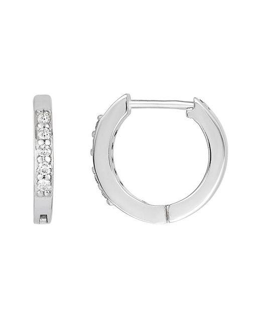 Ariana Rabbani Metallic 14k 0.10 Ct. Tw. Diamond Hoops