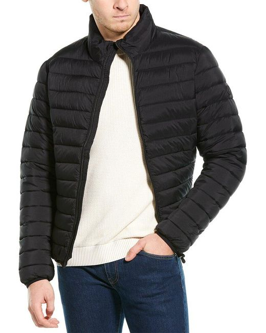 Save The Duck Black Matte Tonal Logo Jacket for men