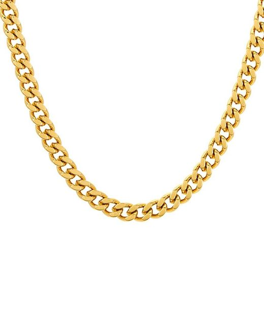 Adornia Metallic Stainless Steel Cuban Chain Necklace for men
