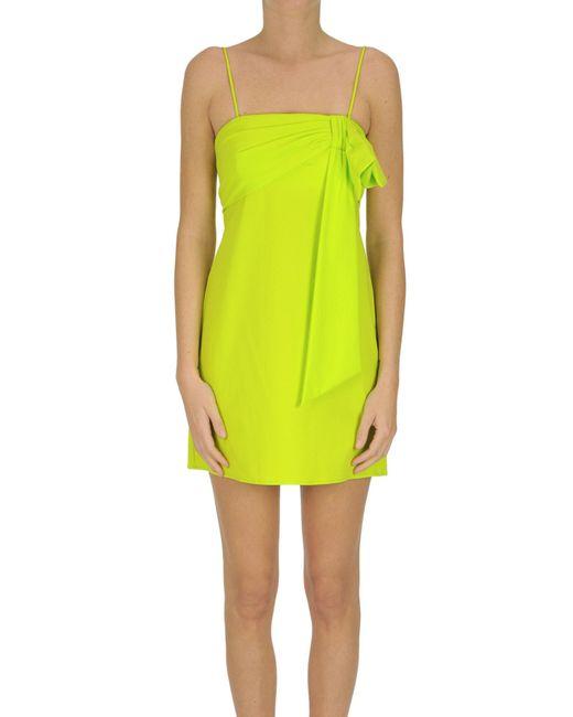 Mini abito in tessuto stretch di Dondup in Yellow