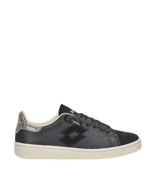 Lotto - Black Autograph Textured Leather Sneakers - Lyst
