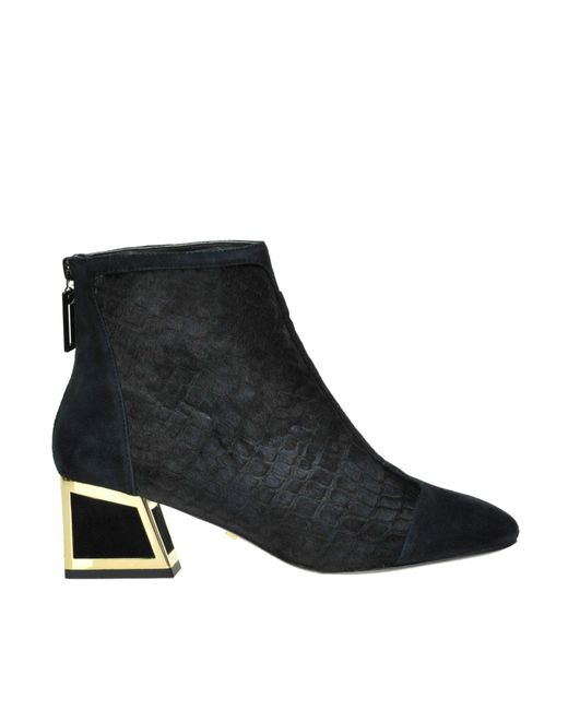 Kat Maconie - Black Ursula Reptile Print Haircalf Aknle Boots - Lyst