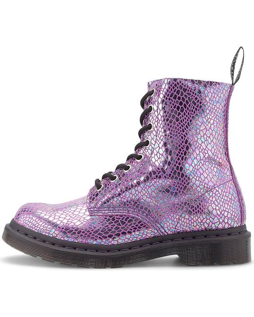 Dr. Martens Pink , Schnür-Boots 1460 Pascal