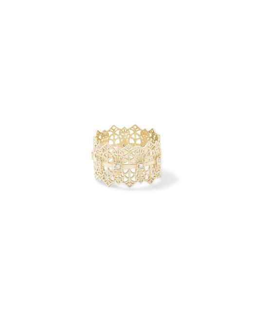 Grace Lee - Metallic Lace Crown Ring With Diamonds - Lyst