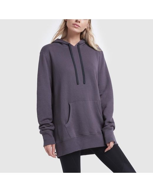 Spiritual Gangster Purple Pullover Hoodie Dress
