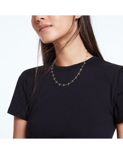 Jennifer Meyer Metallic Crossbar Necklace