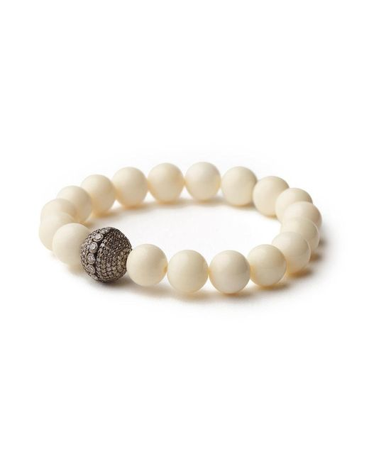 Sheryl Lowe - Multicolor Bone Pave Bracelet - Lyst