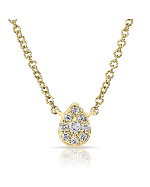 Anne Sisteron - Metallic 14kt Yellow Diamond Mini Pear Necklace - Lyst