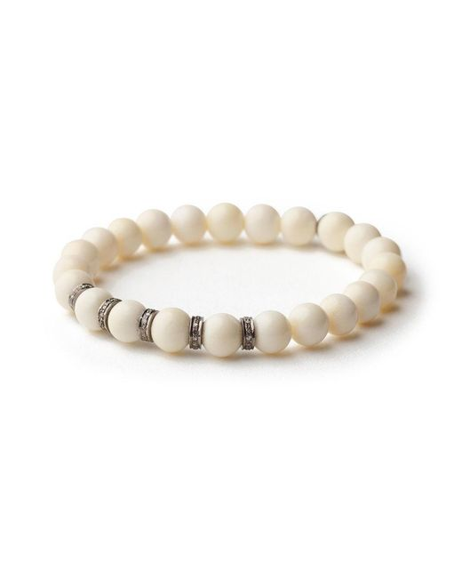 Sheryl Lowe | Multicolor Small Bone Pave Bracelet | Lyst
