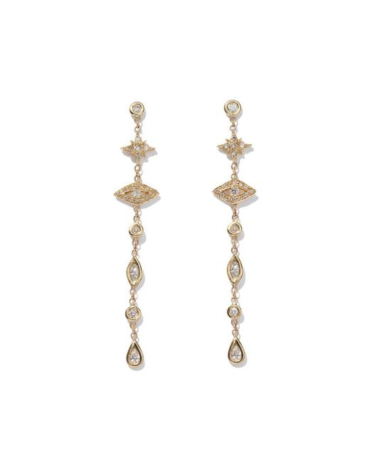 Jacquie Aiche - Metallic Shining Star & Eye Diamond Drop Earrings - Lyst