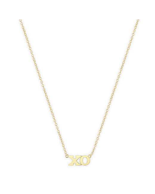 Jennifer Meyer Metallic Xo Necklace
