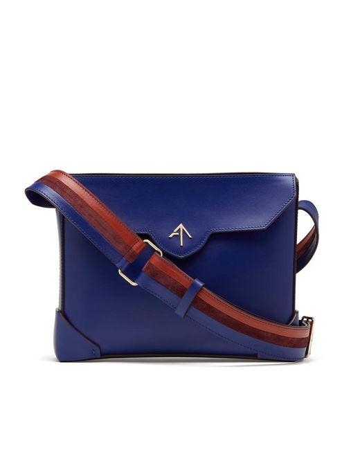 MANU Atelier Blue Bold Handbag