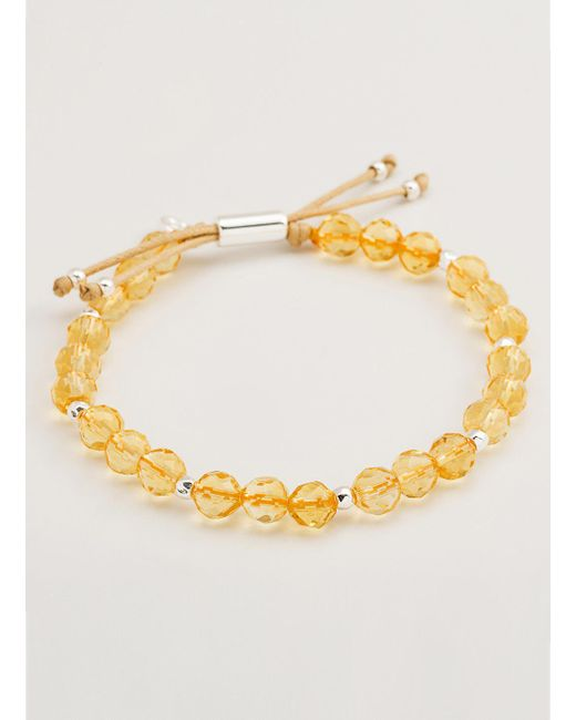 Gorjana & Griffin | Metallic Power Gemstone Citrine Beaded Bracelet For Abundance | Lyst