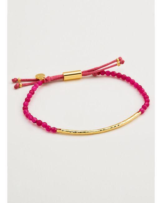 Gorjana & Griffin | Metallic Power Gemstone Pink Jade Bracelet For Dream | Lyst