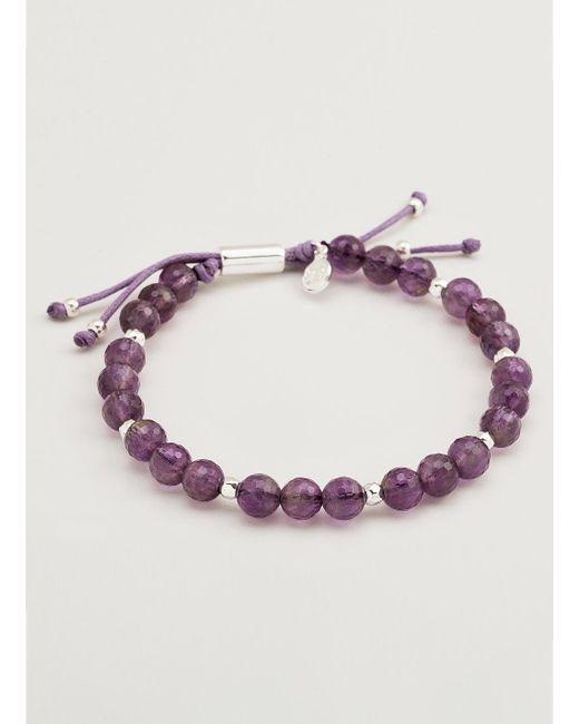 Gorjana & Griffin - Metallic Power Gemstone Amethyst Beaded Bracelet For Tranquility - Lyst