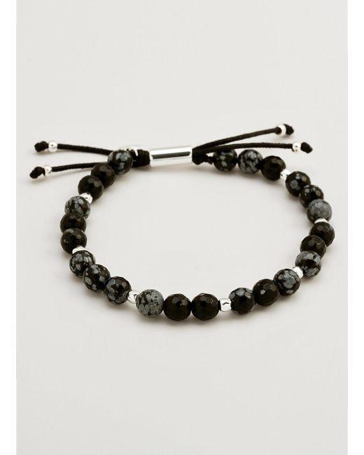 Gorjana & Griffin | Metallic Power Gemstone Snowflake Obsidian Beaded Bracelet For Courage | Lyst