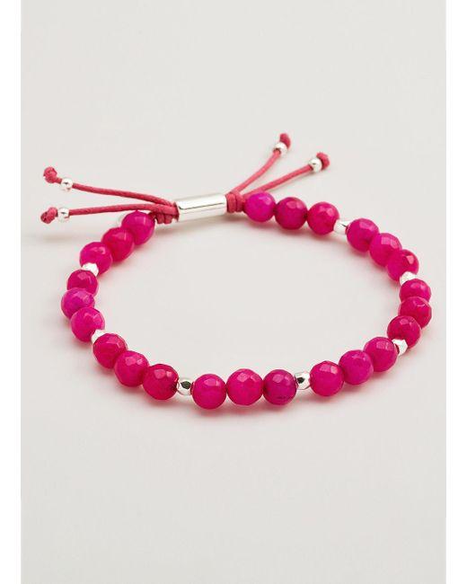 Gorjana & Griffin | Metallic Power Gemstone Pink Jade Beaded Bracelet For Dream | Lyst