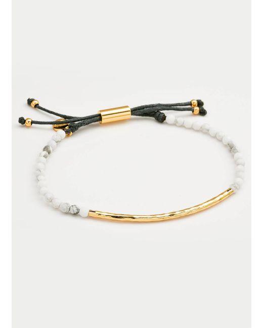 Gorjana & Griffin   Metallic Power Gemstone Howlite Bracelet For Calming   Lyst