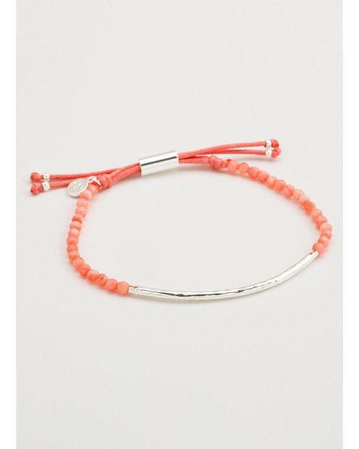 Gorjana & Griffin - Metallic Power Gemstone Pink Coral Bracelet For Harmony - Lyst