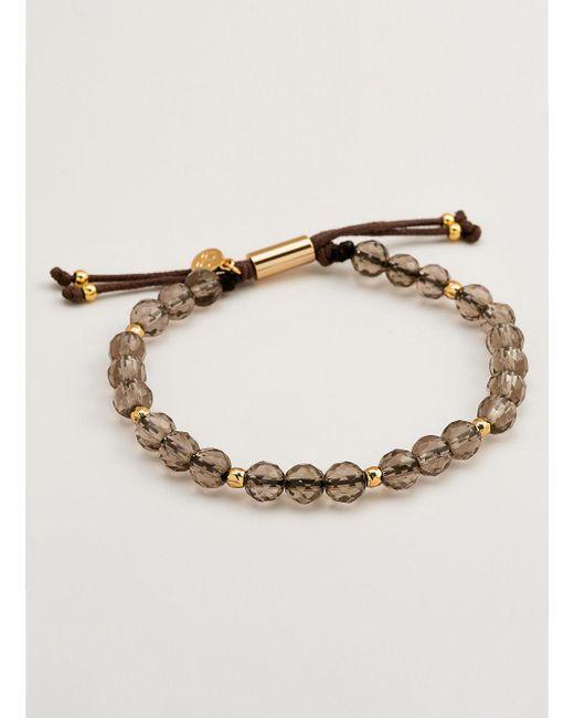 Gorjana & Griffin | Metallic Power Gemstone Smoky Quartz Beaded Bracelet For Grounding | Lyst