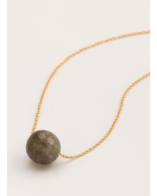 Gorjana & Griffin | Metallic Power Gemstone Labradorite Bead Adjustable Necklace For Balance | Lyst